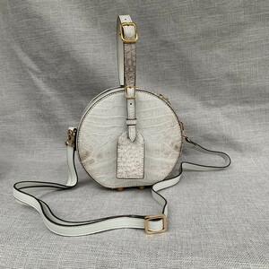ヒマラヤ クロコダイル ワニ革保証 本革レザー 腹部革 多機能 大容量 斜め掛け ショルダーバッグ ボディバッグ 鞄 レディースバッグ