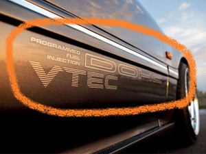 EF8 CR-X DOHC VTEC ドアデカール サイドステッカー 1台分/2枚セット シビック CRX インテグラ プレリュード EF9 DA6 BB1 デルソル