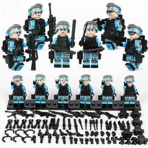 【国内発送】MOC LEGO ブロック 互換 ARMY ロシア軍特殊部隊 アンチテロ部隊 カスタム ミニフィグ 6体セット 大量武器・兵器付き D220
