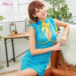 z2262 ハロウィン コスプレ チャイナドレス コスチューム ミニ チャイナ服 衣装 セクシー
