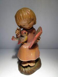 生産終了品 イタリア ANRI 木彫りアンリ人形 Juan Ferrandiz 'The Choral'(合唱) 13cmH