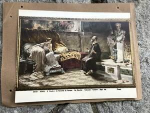 ★ 5 石版印刷 版画 リトグラフ 西洋画 マリア像 ローマ キリスト教 絵画 図録 ヨーロッパ 骨董 アンティーク ビンテージ