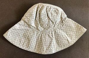 【新品タグ付き】☆ピーチジョン☆可愛い帽子 ドット ベージュ×ホワイト 水玉 PEACH JOHN レディース コンパクト 折り畳み