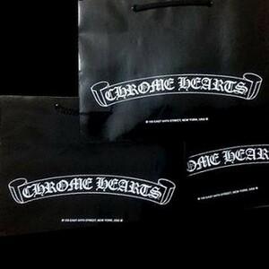 【CU】CHROME HEARTS クロムハーツ ラッピング 紙袋 ブランド ショッパー ショップ袋【新品・未使用・正規品】