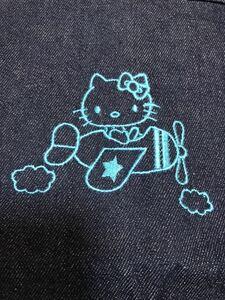 非売品 新品 ハローキティ kitty エコバッグ ショッピングバッグ デニム マチ付き ポケット付き サンリオ メンバーズ クラブ