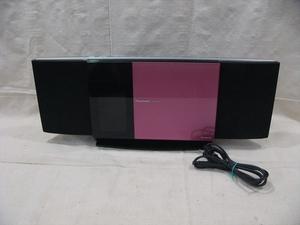 20K0173 3 Panasonic/パナソニック CD/iPod コンパクトステレオシステム SC-HC30 ピンク 2010年製 中古