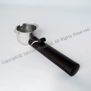 ボトムレス デロンギ コーヒーパウダー用ポルタフィルター 改造品 ネイキッド