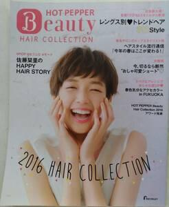 非売品 佐藤栞里 HOT PEPPER Beauty HAIR COLLECTION ホットペッパー ビューティー ヘアコレクション 2016