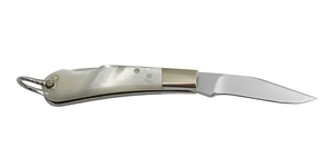 No.MH/MP Yoshi Mini Knife マザーパール貝柄:Closed;52mm・Stainless Stee Blade:35mm