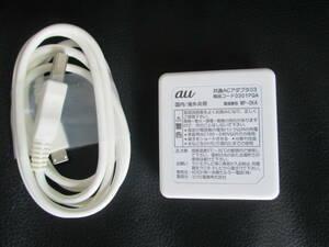 即決 中古 美品★ミツミ電機 au 純正 0301PQA 共通ACアダプタ03 1個 ケーブル付 ★送198