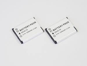 2個セット【Nikon EN-EL19】ニコン●1200mAh 互換バッテリー 保護回路内蔵 バッテリー残量表示可 リチウムイオン充電池