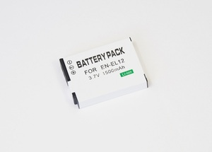 【Nikon EN-EL12】ニコン■1500mAh 互換バッテリー PSE認証 保護回路内蔵 バッテリー残量表示可 リチウムイオン充電池