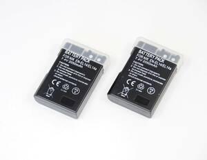 2個セット【EN-EL14 / EL14A】ニコン★2050mAh 互換バッテリー PSE認証 保護回路内蔵 バッテリー残量表示可 リチウムイオン充電池