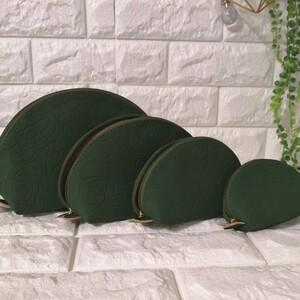 ポーチ 4個セット グリーン 花柄 メイクポーチ 小物入れ
