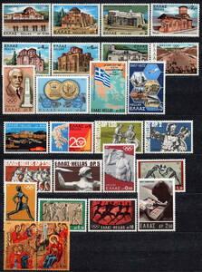 ★1971-72年 ギリシャ - 「修道院と教会」 7種完他 未使用 切手 8セット完(MNH)(SC#1031-1064)★VF-92