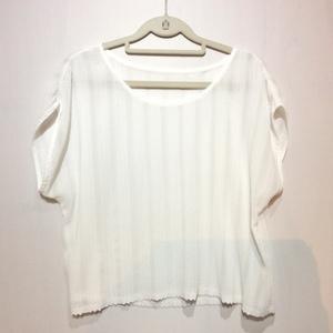 【値下げ】Dior ディオール 婦人 カットソー 11号 ホワイト [クリックポスト可]