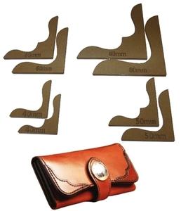◆新品◆送料無料◆角花飾り◆ 透明 アクリル型 レザークラフト 型紙 ◆財布  バッグ 手芸 趣味 ホビー ハンドメイド レザー