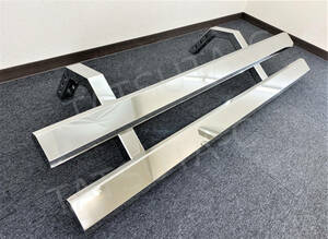 original! pcs type * stainless steel side bumper * length 1400. mirror finish strut stay attaching .L/R set 2t for retro all-purpose deco truck 00137