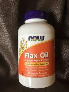 《送料無料》Flax Oil オーガニック フラックスオイル 1000mg 120粒 (亜麻仁油 アマニ油 オメガ3 フラックスシード サプリメント now )