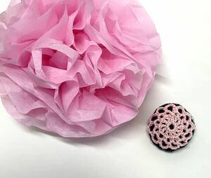 Ожидание Handmade Super Silver Magnet Plumb Цветочный Магнит Розовый Черный Кружева Вязание Домохозяйки История Кухонные Изделия Модный Товары