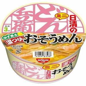 【日清食品】 どん兵衛 温つゆ おそうめんミニ 35g 1ケース 12入り