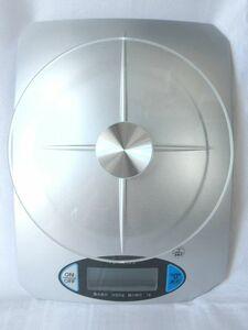 ♪USED/訳あり♪パール金属/グラスミー/デジタルキッチンスケール/シルバー/2kg用/D-17