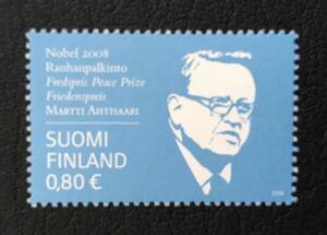 フィンランド 2008年 アハティサーリ元大統領ノーベル平和賞受賞 1種完 未使用 NH
