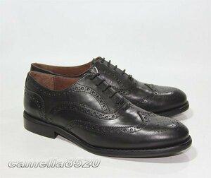 ZARA ザラ ウィングチップ ビジネスシューズ 黒 ブラック レザー 本革 40 サイズ 約25cm スペイン製 未使用 展示品 AB0540
