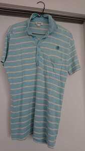 ディーゼル DIESEL 半袖 ボーダー 水色 シャツ カットソー トップス ポロシャツ メンズ 男性用 サイズM