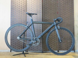 ■LEADER BIKE リーダーバイク 725 ブラック シングルスピード ピストバイク 自転車 札幌発