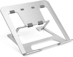 新品 ノートパソコンスタンド タブレットスタンド シルバー 中空型 高さ調整 折りたたみ式 滑り止め アルミ合金製 放熱性 軽量
