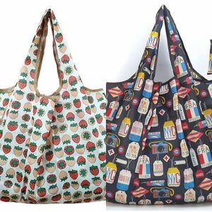 エコバッグ シュパット 買い物バッグ 折りたたみ 買い物袋 大容量 【2個入り】