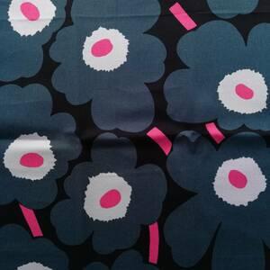 ♪マリメッコ marimekko ピンク グリーン キャンバス ウニッコ 花柄 緑 ハンドメイド♪