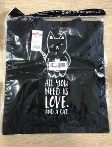 キャンバストートバッグ アニマルグラフィック ショッピングバッグ 色:黒