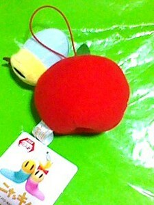 「ニャッキ!」 ぶるぶる りんご マスコット a 12cm 振動する ぬいぐるみ
