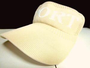 バイザー SPORT 帽子 ゴルフ キャップ GOLF CAP 綿 コットン メッシュ 日よけ UV対策 熱中症対策 幅広/フリーサイズ/ベージュ/未使用