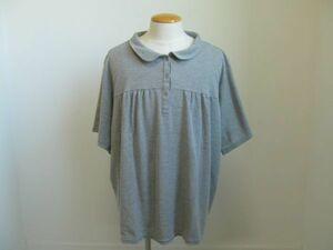 (37071)SMILE LAND スマイルランド ニッセン ポロシャツ 半袖 グレー系 10L 大きいサイズ 美品