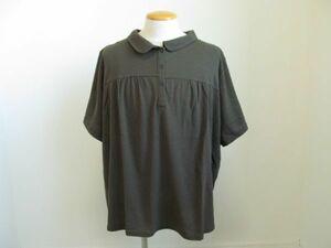 (37070)SMILE LAND スマイルランド ニッセン ポロシャツ 半袖 カーキ系 10L 大きいサイズ タグ付き