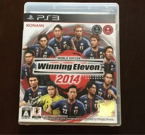 PS3ゲームソフト「ウイニングイレブン2014」解説書あり