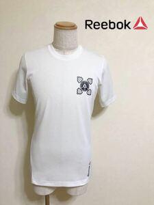 【美品】 Reebok リーボック トレーニング ウェア フィットネス トップス ドライ Tシャツ 半袖 サイズL 白 BC5021 アディダスジャパン