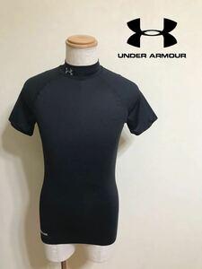 【美品】 UNDER ARMOUR HG COMPRESSION アンダーアーマー ヒートギア コンプレッション トレーニング ウェア サイズLG 半袖 黒 MCM6706