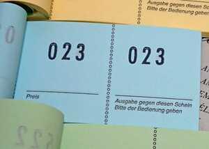 ドイツ ナンバーブロックチケット ブルー 1冊●海外チケット