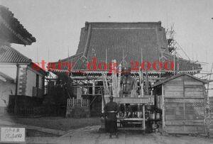複製復刻 絵葉書/古写真 東京 本所 回向院 大相撲 仏像 明治期 WA_078