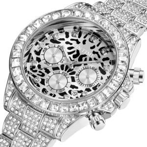 PINTIME メンズ 腕時計 ヒョウ クロノグラフ クォーツ 時計 男性 S1726