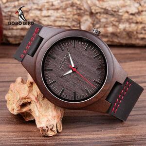 BOBO BIRD 木製 腕時計 メンズ クォーツ 時計 男性 S1717