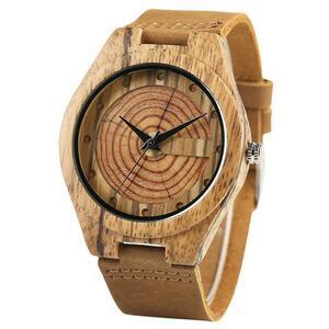 YISUYA 木製 腕時計 木目 クォーツ 時計 男性 メンズ S1834