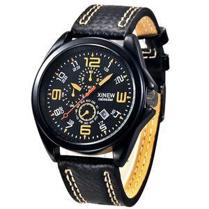 XINEW 腕時計 男性 日付 クォーツ 時計 メンズ S1721