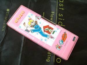 ◆昭和レトロ 少女マンガ ELUZA E・ASAO イラスト ペンケース 筆箱 デッドストック 新品 1970年代 少女漫画 アニメ