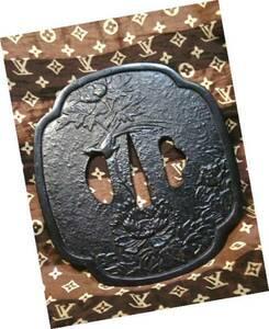 ◆ 非売品 レア 大協石油 刀 鍔 大型 飾り物 つば 金属 レトロ お値打ち品 企業物 アンティーク 和風 ビンテージ