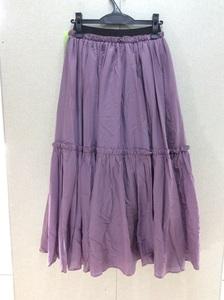 MERLOT IKYU(メルローイキュウ) ライトパープルボリュームスカート ウエストゴム サイズ表記なし